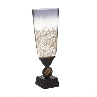 Inart Βάζο αλουμινίου/γυάλινο 18Χ12Χ48 3-70-162-0148
